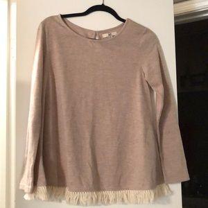 Cute fringe sweatshirt